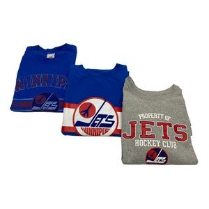 Winnipeg Jets 3 T-shirt Lot Various Sizes XL Large